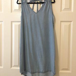 Gap chambray shift dress